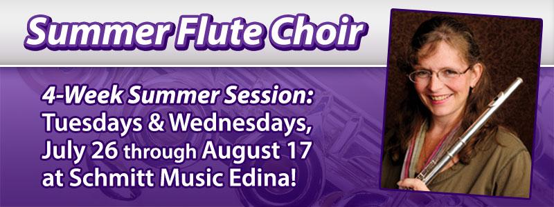 Summer Flute Choir Workshop at Schmitt Music Edina!