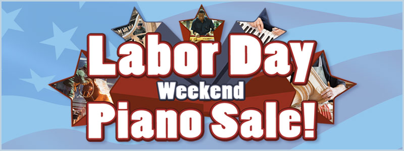 Labor Day Weekend Piano Sale at Schmitt Music Denver