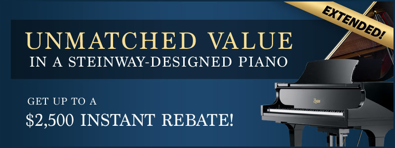 Boston Piano Rebates are EXTENDED!