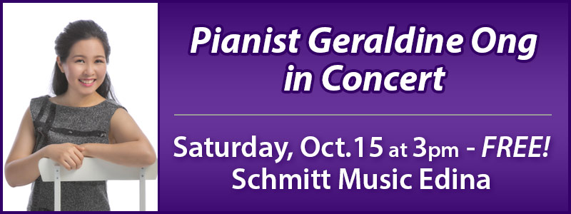Pianist Geraldine Ong in Concert at Schmitt Music Edina