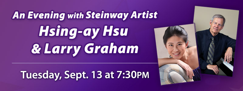 Steinway Artist Hsing-ay Hsu and Larry Graham at Schmitt Music Denver