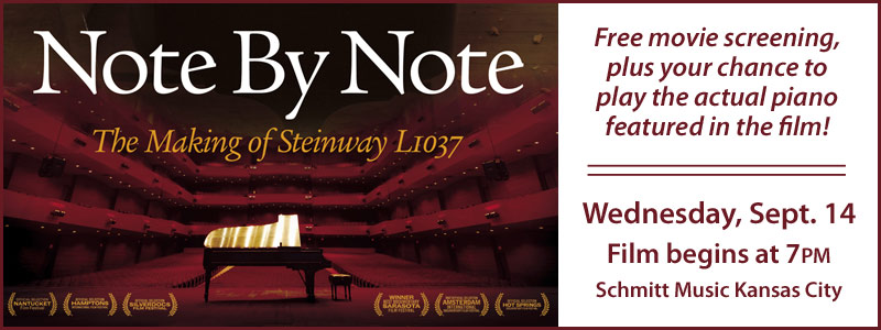 "Steinway Movie Night: ""Note by Note"" Screening Event at Schmitt Music Kansas City"