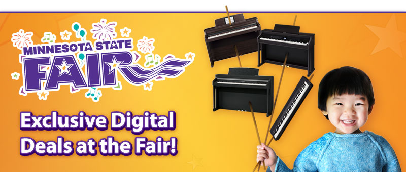 Minnesota State Fair Savings on Digital Pianos!