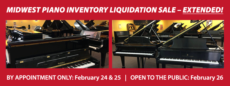 Midwest Piano Inventory Liquidation Sale EXTENDED!