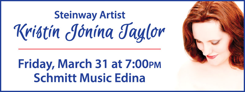 An Evening with Steinway Artist Dr. Kristín Jónína Taylor in Edina
