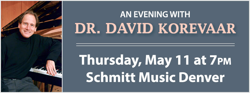 An Evening with Dr. David Korevaar at Schmitt Music Denver