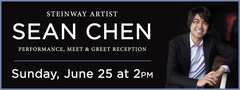 Steinway Artist Sean Chen Meet & Greet, Performance at Schmitt Music Kansas City