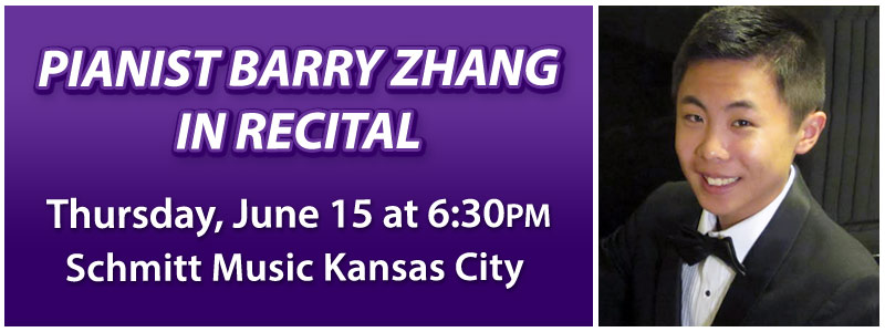 Barry Zhang Piano Recital in Kansas City