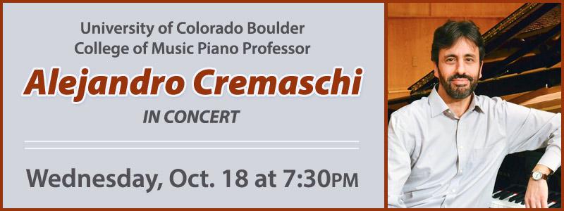 CU Boulder Piano Professor Alejandro Cremaschi in Concert | Denver