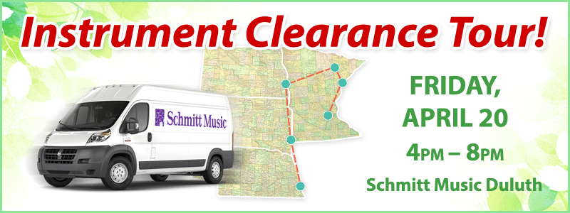 Band & Orchestra Instrument Clearance Tour | Duluth, MN