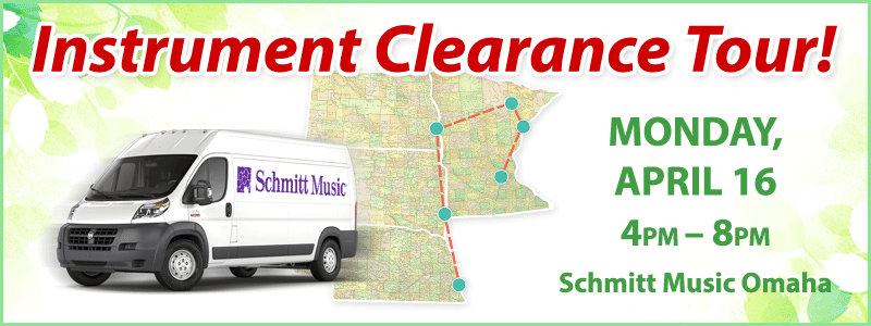 Band & Orchestra Instrument Clearance Tour | Omaha, NE