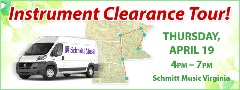 Band & Orchestra Instrument Clearance Tour | Virginia, MN