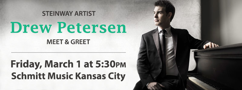 Meet & Greet with Steinway Artist Drew Petersen | Overland Park, KS