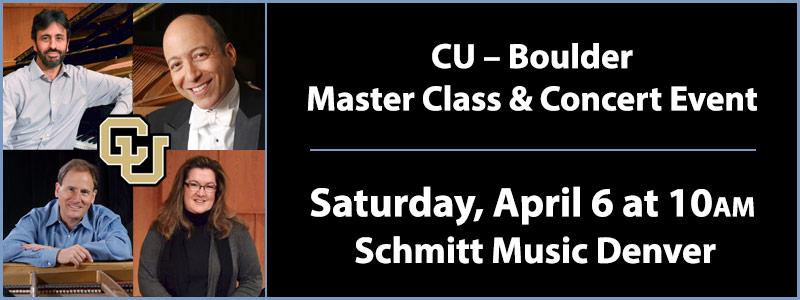 CU – Boulder Master Class & Concert | Denver, CO