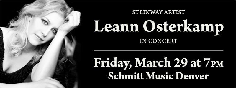 Steinway Artist Leann Osterkamp In Concert | Denver, CO