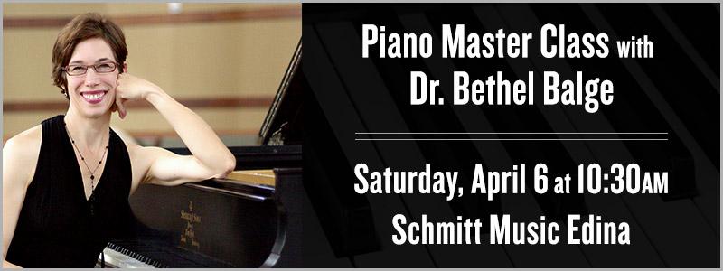 Piano Master Class with Dr. Bethel Balge | Edina, MN