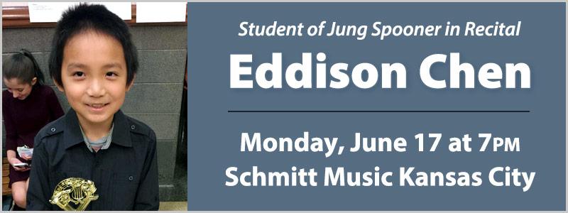 Student Pianist Eddison Chen in Recital | Overland Park, KS