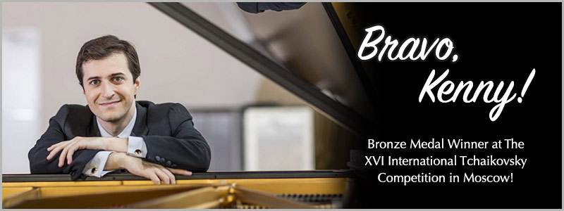Kenny Broberg Awarded Bronze Medal at XVI International Tchaikovsky Competition