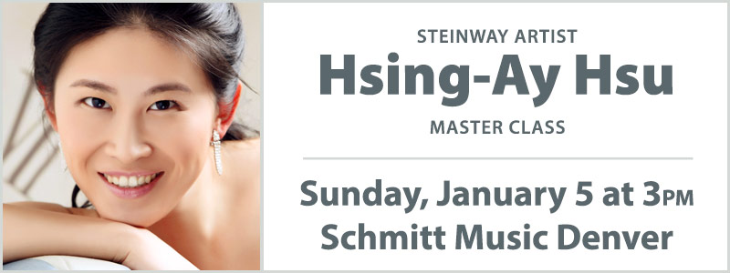 Master Class with Steinway Artist Hsing-ay Hsu | Englewood, CO