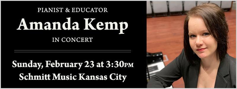 Benefit Concert with Pianist Amanda Kemp | Overland Park, KS