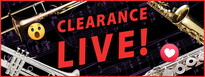 Clearance Live: Saxophone & Clarinet Sale on Facebook Live!