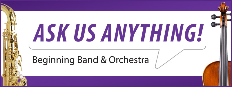 Ask Us Anything: Beginning Band & Orchestra event on Facebook Live!