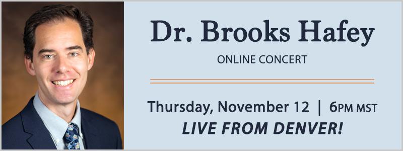 Pianist Dr. Brooks Hafey Facebook LIVE Concert | Englewood, CO