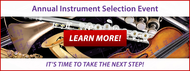 Band & Orchestra Instrument Selection Event