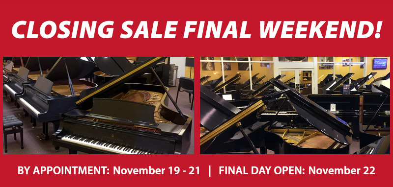 Final Weekend: Store Closing Piano Sale | Overland Park, KS