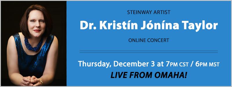 Steinway Artist Kristín Jónína Taylor LIVE Concert | Omaha, NE