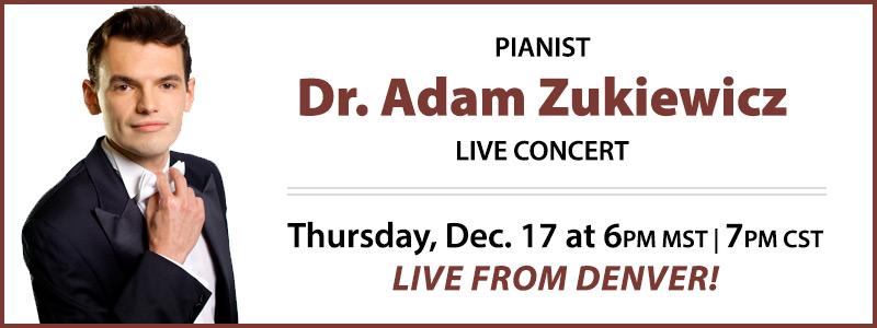 Pianist Dr. Adam Piotr Żukiewicz LIVE Concert | Denver, CO