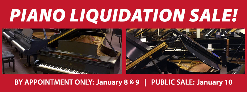 Piano Inventory Liquidation Sale | Brooklyn Center, MN