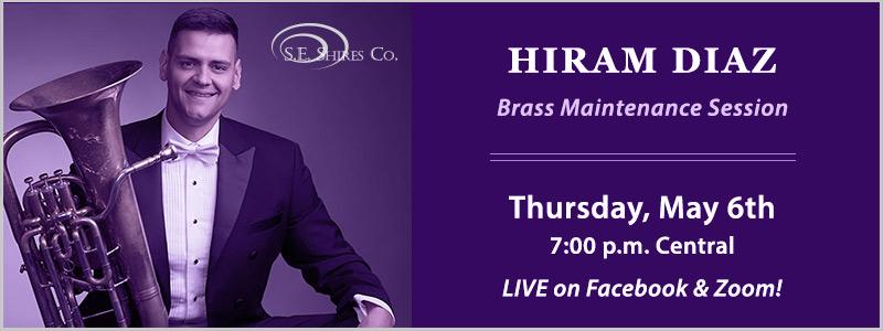 Shires Artist Hiram Diaz Streaming Euphonium Session