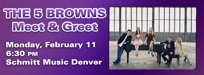 Steinway Artists The 5 Browns Meet & Greet at Schmitt Music Denver