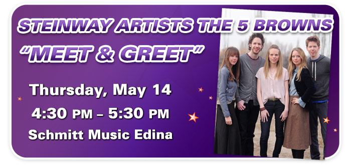 """Meet & Greet"" with Steinway Artists The 5 Browns at Schmitt Music Edina"