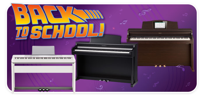 Back-to-School Digital Piano event at Schmitt Music Denver – Your Digital Piano Headquarters!!