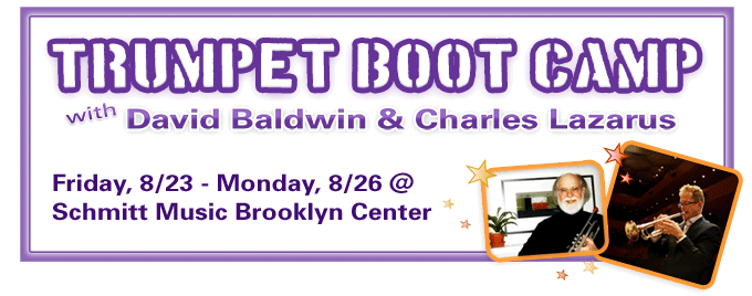 Trumpet Boot Camp 2013 feat. Charles Lazarus & David Baldwin at Schmitt Music Brooklyn Center