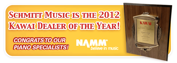 Schmitt Music Awarded Kawai Piano Dealer of the Year and more at the Winter NAMM Show!