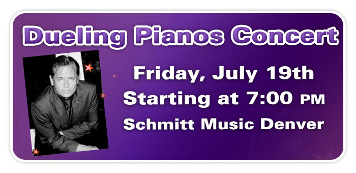 Dueling Pianos in Concert feat. Nick Busheff & Friends at Schmitt Music Denver