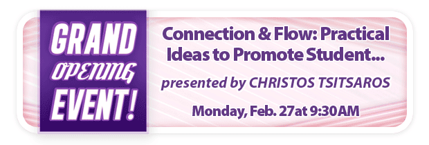 Connection & Flow: Practical Ideas to Promote Student Awareness, Efficiency, and Readiness for Performance – FREE Grand Opening Workshop at Schmitt Music Edina