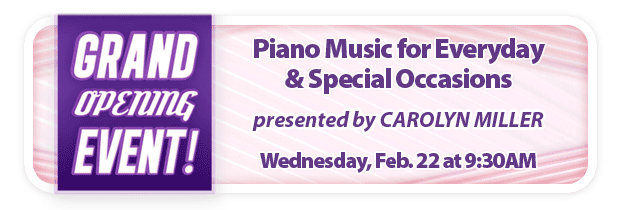 Piano Music for Everyday & Special Occasions – FREE Grand Opening Workshop at Schmitt Music Edina