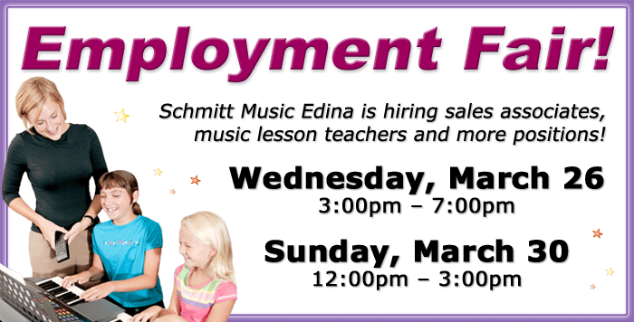 Employment Fair at Schmitt Music Edina!