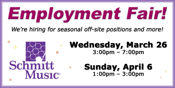 Employment Fair at Schmitt Music Minnetonka!