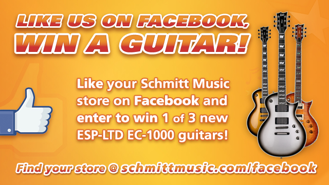 LIKE us on Facebook, Win a Guitar!