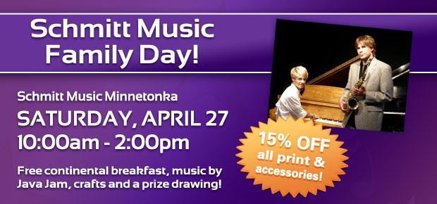 1st Annual Family Day feat. Java Jam at Schmitt Music Minnetonka