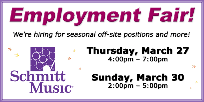 Employment Fair at Schmitt Music Fargo!