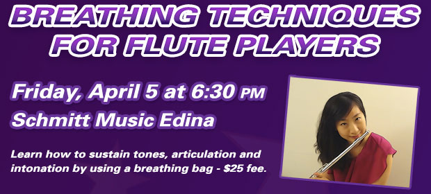 Breathing Techniques for Flute Players at Schmitt Music Edina