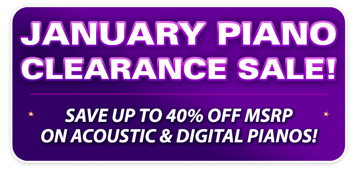 January Piano Clearance Sale at your Schmitt Music stores!