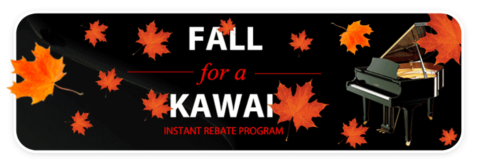 Instant Rebates on new KAWAI pianos through September!