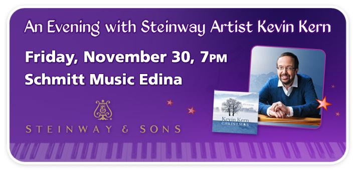 Steinway Artist Kevin Kern Live at Schmitt Music Edina
